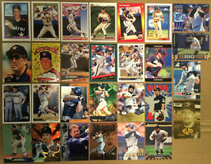 JEFF-BAGWELL-LOT-of-35-Rookie-insert-base-cards-1991-HOF-NM-Houston-Astros-UD