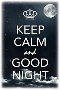 Keep-Calm-and-Good-Night-Tin-Sign-Shield-Arched-Tin-Sign-20-x-30-cm-CC0474