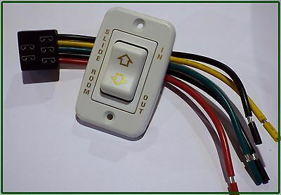 American Motorhome RV Ivory//Gold 2 Pin On\Off Switch