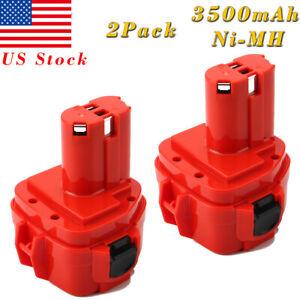 2PCS PA12 Rechargeable Battery 12V 3.0A Ni-MH for Makita