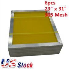 Us 6pcs Aluminum Frame Silk Screen Printing Screens 305 Mesh 23 X 31