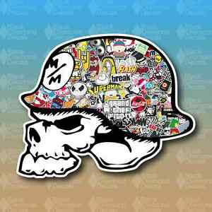 Metal Mulisha Stickerbomb Sticker Bomb Custom Vinyl Decal - Custom vinyl decals for metal