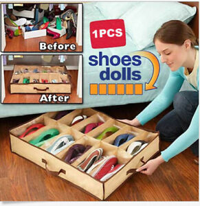 12-Pairs-Shoes-Storage-Organizer-Holder-Container-Under-Bed-Shoe-Closet-Box-Bags