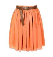 CORAL | Lady Women Chiffon Mini Skirts Pleated Retro High Waist Double Layer