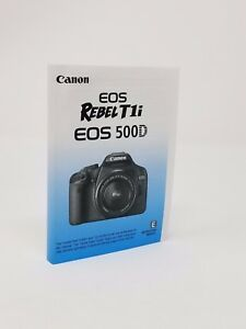 canon rebel t1i eos 500d instruction owners manual book new rh ebay com  manual da camera canon t1i em portugues