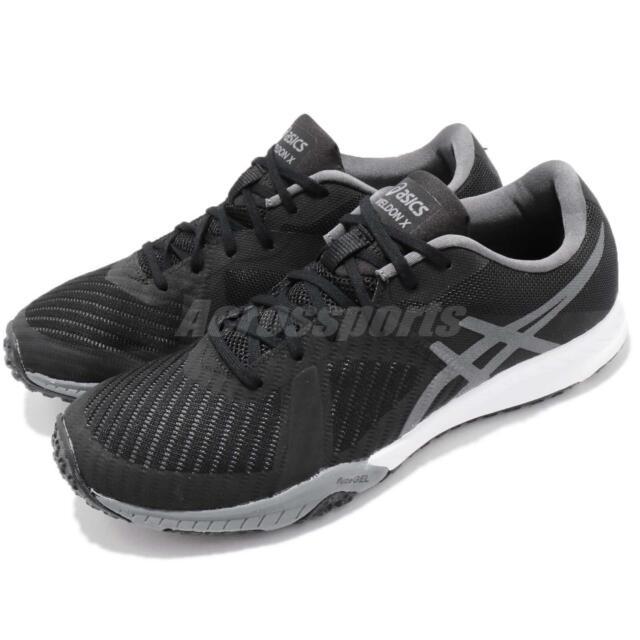 Asics Weldon X Black Grey Mens Cross Training Shoes Gel Trainer S707N-9097 e1b234c5934