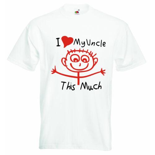 I LOVE MON ONCLE autant bébé personnalisé Garçons Filles Vêtements T-shirt Tees