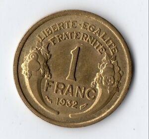 TOP-QUALITE-MONNAIE-DE-1-FRANC-MORLON-EN-BRONZE-ALU-DE-1932-SUPERBE-QUALITE
