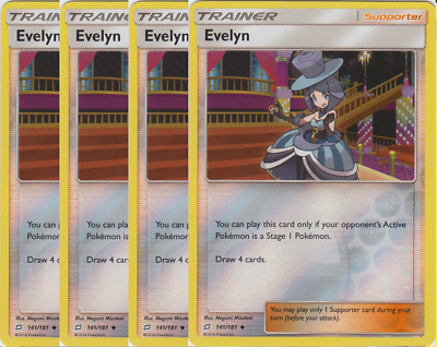 SM TEAM UP 4 X EVELYN 141//181 UNCOMMON Pokemon