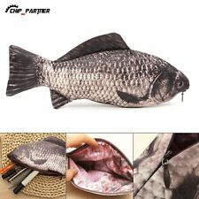 1pc Carp Real Fish-like Zipper Pen Makeup Pouch Pencil Case Funny Rare Gift