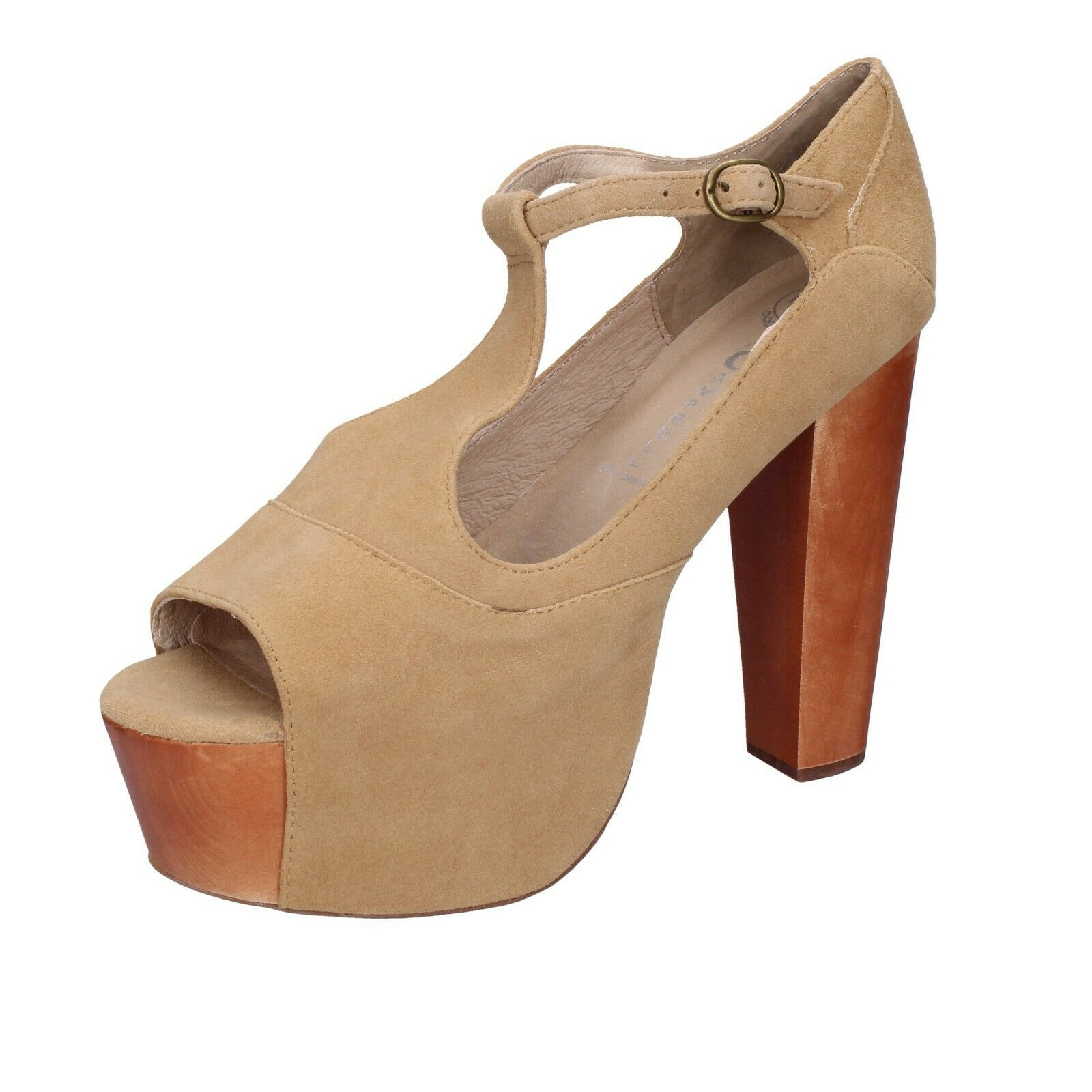 Women& 039;s shoes JEFFREY CAMPBELL 10 (EU 40) sandals beige suede AH554-40