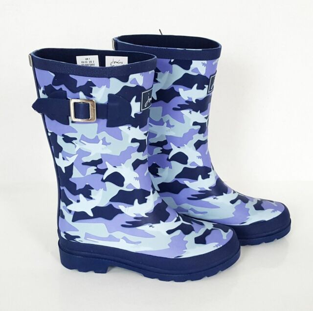 NEW Joules Welly Junior Boy/'s//Girl/'s Rain Rubber Boots Red Blue Waterproof