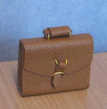 1/12, Dolls House miniature Brief Case / briefcase Brown Luggage Bedroom LGW BN