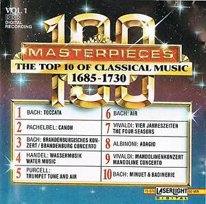 Musik-CD-Sampler-The-Top-100-Masterpieces-of-Classical-Music-Vol-1-1685-1730