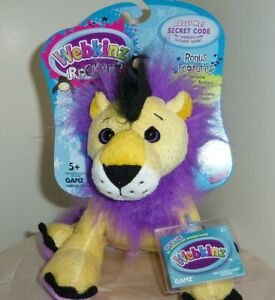 Lion-Rock-and-Roar-full-size-8in-Webkinz-Rockerz-with-sealed-unused-code-HM5103