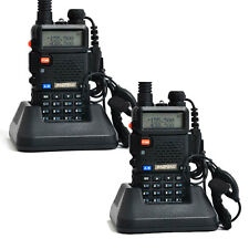 2 x Baofeng UV-5R Dual Band 136-174/400-520Mhz 2-Way Radio with Flashlight