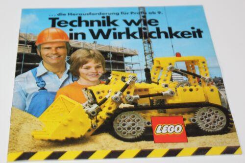 """Lego Technic Prospekt//Katalog /""""Technik wie in Wirklichkeit/"""" ohne Steine 1979"""