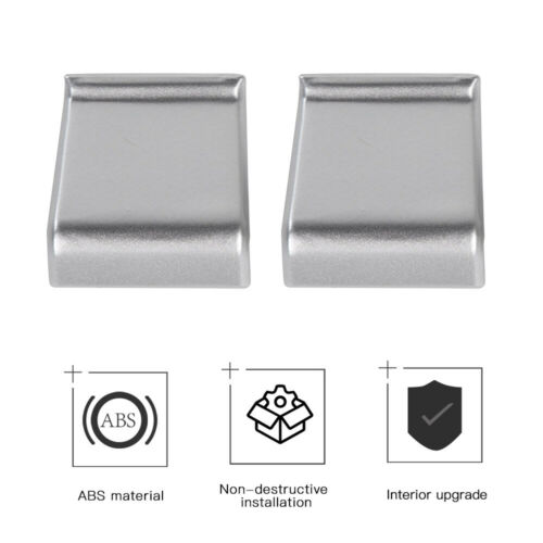 Jeep Wrangler JL Window Lift Switch Adjust Button Cover Trim Silver Fit For 18