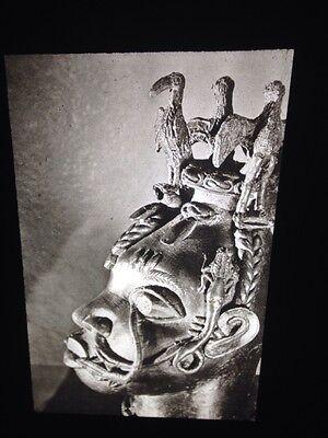 """Benin African Tribal Art /""""Queen Mother Bronze/""""35mm Vintage Glass Sculpture Slide"""