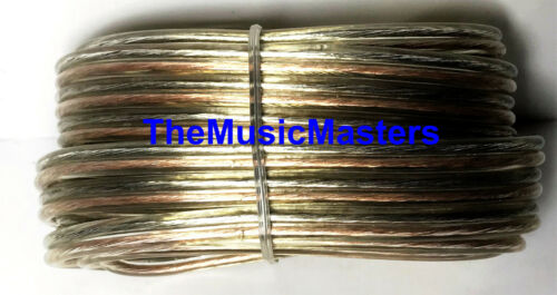Car Audio Home Stereo SPEAKER WIRE 14 Gauge 15/' ft Clear HD Quality Cable VWLTW