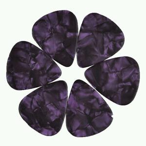 24-pcs-New-Medium-0-71mm-Blank-Guitar-Picks-Celluloid-Pearl-Purple