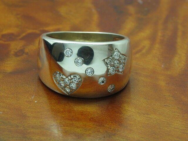 925 STERLING silver RING MIT GLAS BESATZ   ECHTsilver   7,2g   RG 57