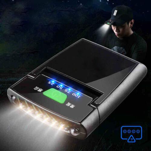 6 LED Clip-on Scheinwerfer wiederaufladbare Sensor Kappe Hut Lampe Scheinwerfer