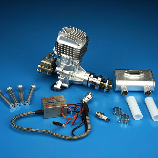 DLE 120CC Twin Cylinder Two Stroke Side Exhaust Gasoline Engine for RC Airplane
