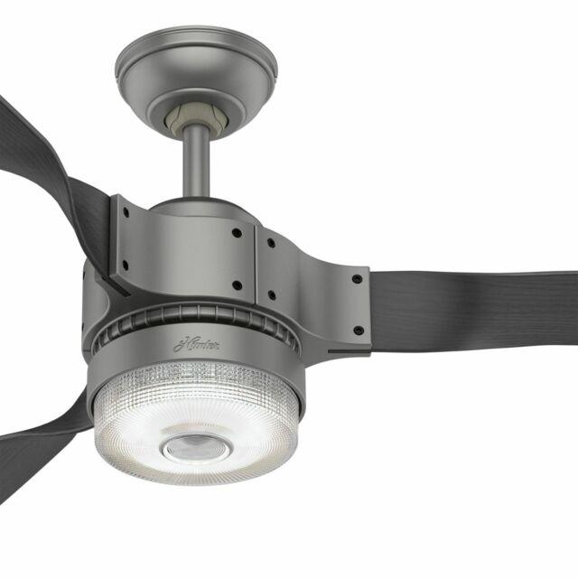 """HUNTER 54/"""" NORDEN FRESH WHITE 6 SPEED REMOTE LED LIGHT Ceiling Fan"""
