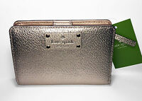 Kate Spade Wellesley Tellie Wallet Rose Gold Textured Leather Wlru2604 on sale