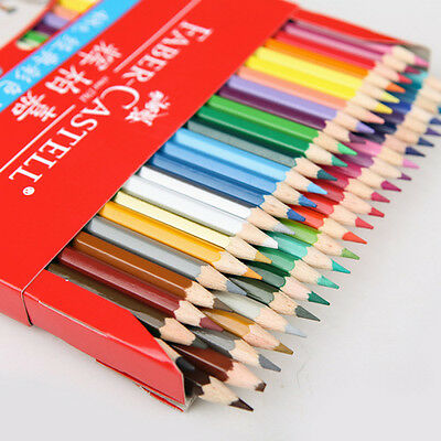 Water Color Drawing Pencils 48 Color Faber/Castell Colored Set&Brush Sharpener