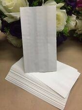 50x White Greaseproof Paper Lolly Treat Cake Candy Bags Wedding Birthday Party