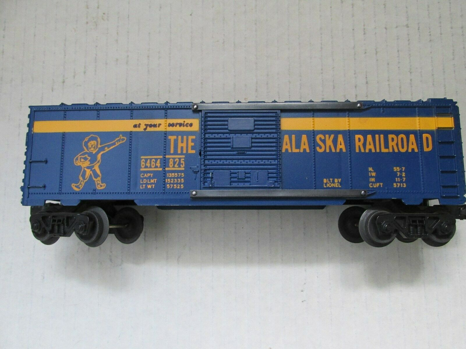 Lionel 6464-825 Alaska Box Car En Perfecto Estado