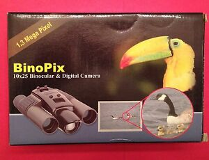 Vintage 'BinoPix' 10x25 Binocular and Digital Camera. Excellent NIB Condition.