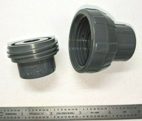 """LASCO PVC 1//2/"""" Union Thick-Wall Schedule 80 Female Socket Weld Pipe Fitting NEW"""