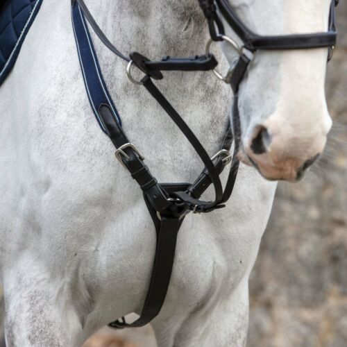 Rambo Micklem Breastplate Leather Elasticated Horse Tack
