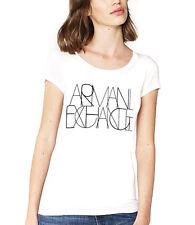 NEW Genuine ARMANI EXCHANGE AX White Logo T Shirt Womens Size Medium