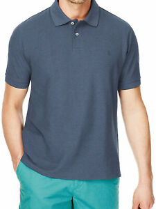 EX-M-amp-S-Blue-Harbour-Cotton-Rich-Pique-Polo-Shirt