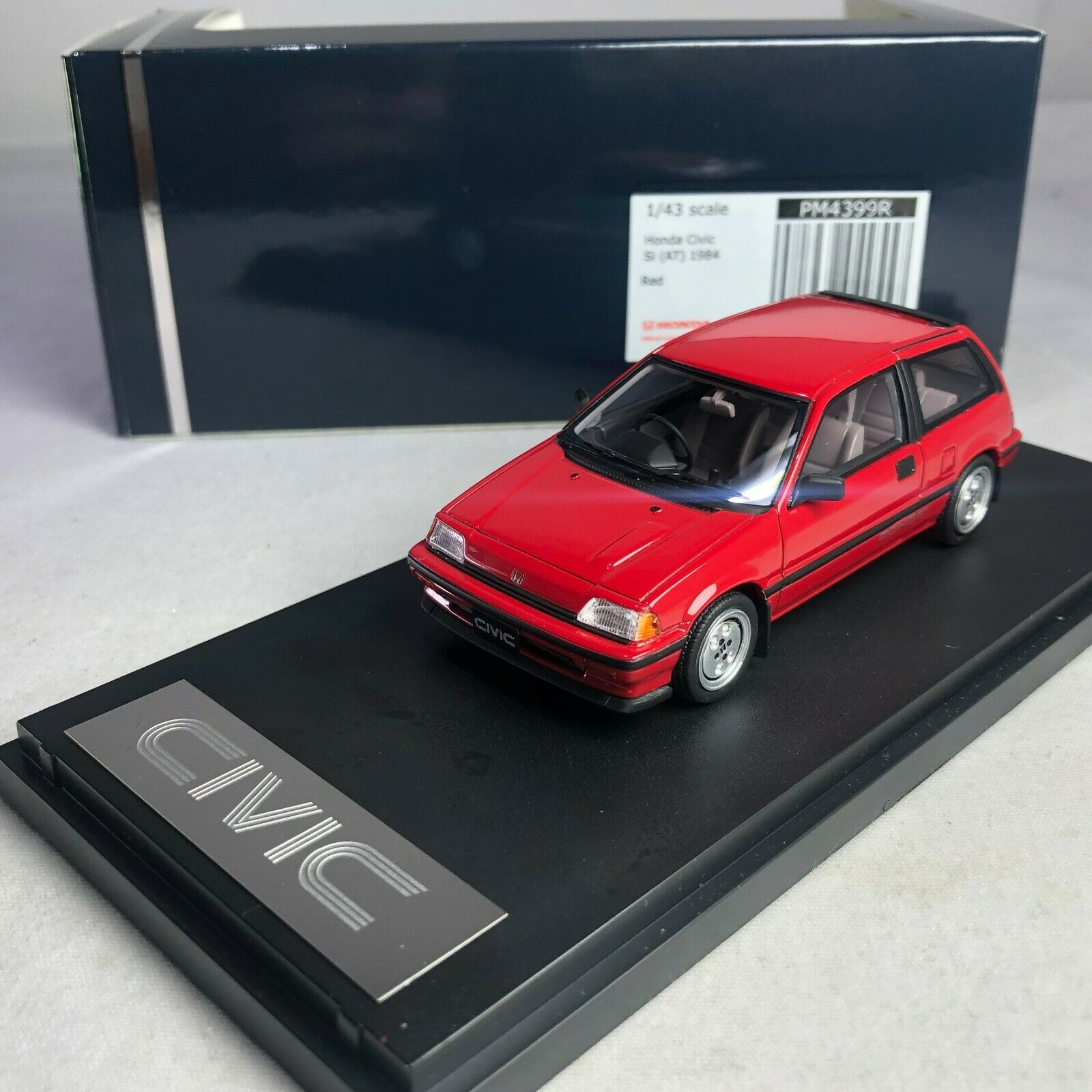 1 43 Mark 43 Honda Civic Si en 1984 Rojo PM4399R G