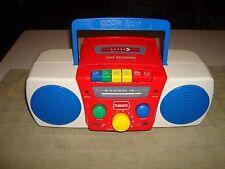 Rare 1997 Hasbro PLAYSKOOL BOOMBOX RADIO TAPE RECORDER w/ SING-ALONG-MICROPHONE