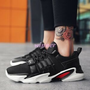 bf005039213e Image is loading 2019-New-Mens-Sneakers-Lace-Up-Breathable-Skateboard-