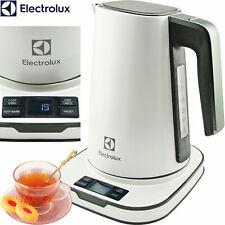 Electrolux Edelstahl Wasserkocher Display Temperatur-Anzeige Warmhalten weiß NEU