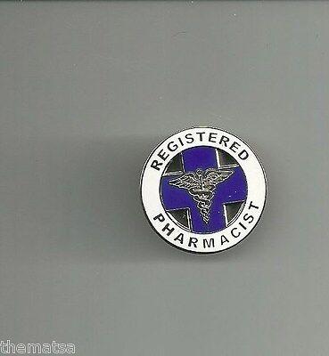 RP REGISTERED REGISTERED PHARMACIST CADUCEUS MEDICAL BADGE PIN