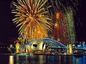Fireworks-In-Sydney-Canvas-Wall-Art-Picture-Print-VARIOUS-SIZES