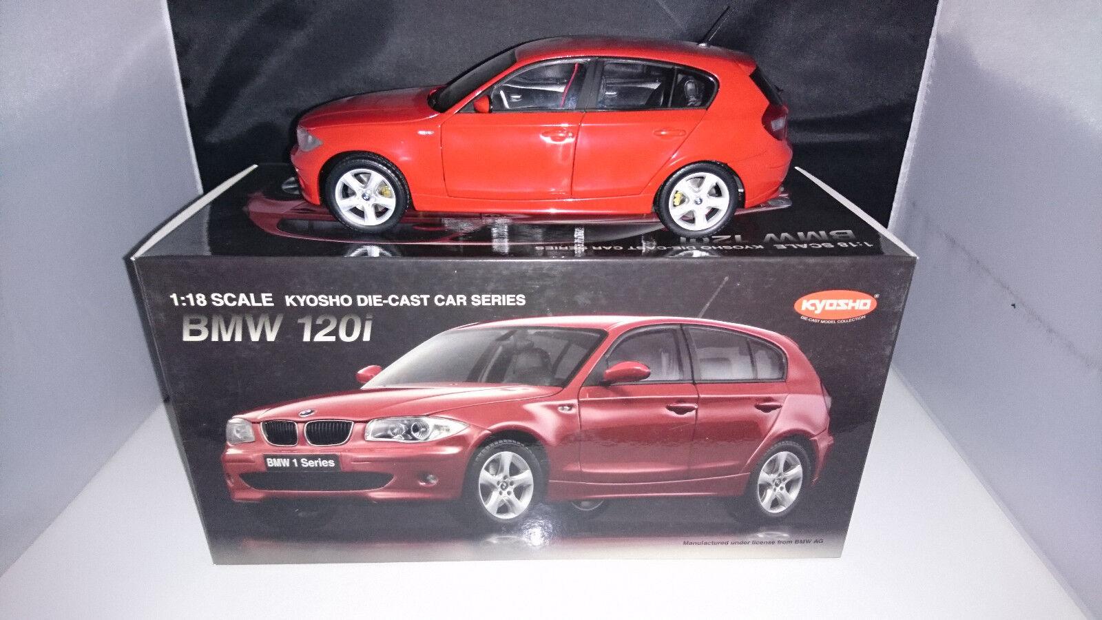 1:18 KYOSHO BMW 120i e87 prenderla rosso Nuovo OVP RARO