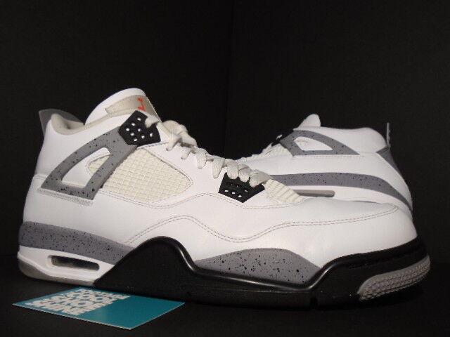 2018 Nike Air Jordan IV 4 Retro blanc CEMENT COOL COOL CEMENT gris  Noir rouge 308497-103 14 9698f7