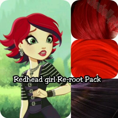 Ever After High Redhead Goth Girl Doll Re-root Pack Nylon Hair Kit for OOAK
