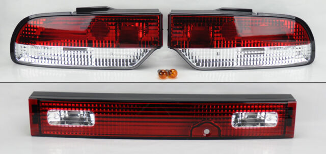 Red Clear Euro 3 Piece Tail lights FITS Nissan 180SX 200SX 240SX S13