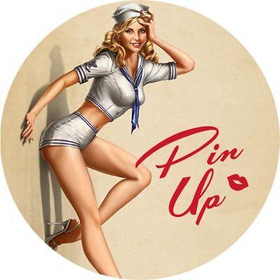 Pin Up Girl Sticker Set Hot Rod estilo Vintage y Retro Clásico De Rata Coche Vdub Calcomanía C