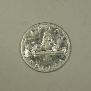 1959-Canada-Silver-Dollar-Coin-1-BU-Brilliant-Uncirculated-80-Silver